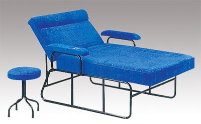F-63 理容按摩床[含輔助椅]/床角加強可耐重數倍,前段床面可調整角度,有扶手及煙灰盒