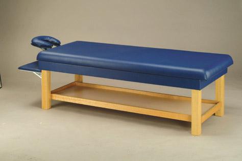 F-86A 指壓專用床/附置物架/可調角度馬蹄型枕/置手架可收放